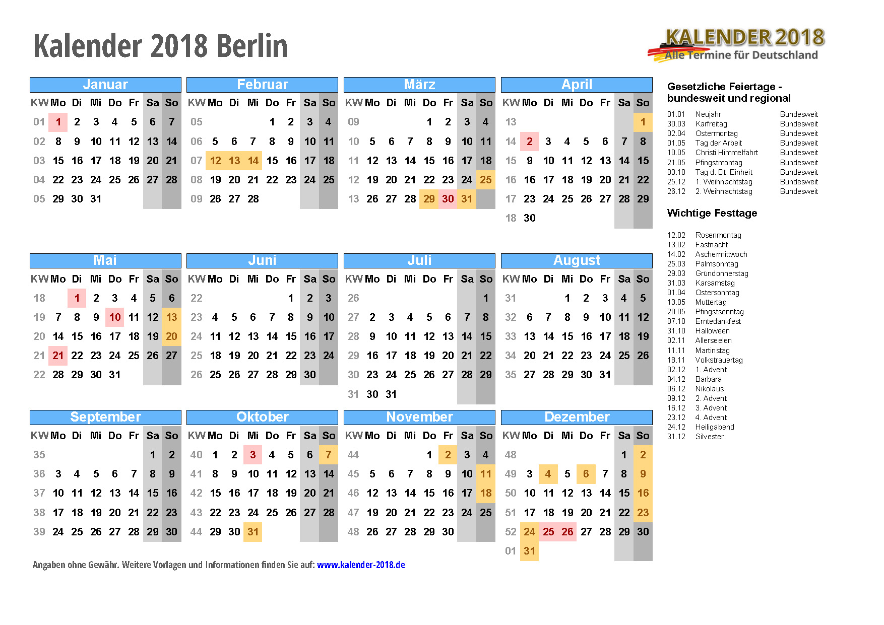 feiertage in berlin